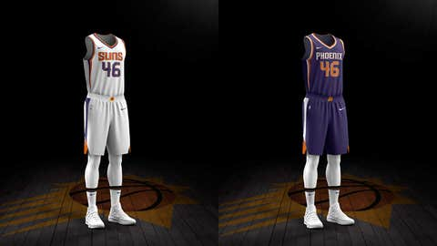 Suns reveal 2 new uniforms for 50th anniversary season