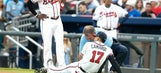 Braves rookie Johan Camargo suffers strange injury running on field