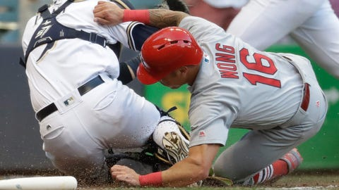 Nelson lifts Brewers to 3-2 victory over the Cardinals