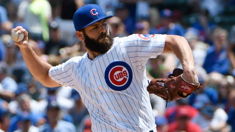Cubs starting pitcher Jake Arrieta (10-7, 4.03 ERA)
