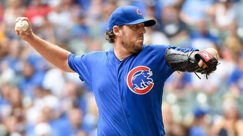 Cubs starting pitcher John Lackey (9-9, 4.81 ERA)