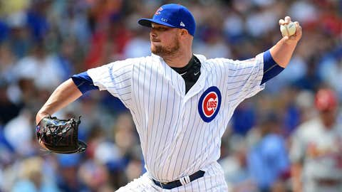 Cubs starting pitcher Jon Lester (8-6, 3.88 ERA)