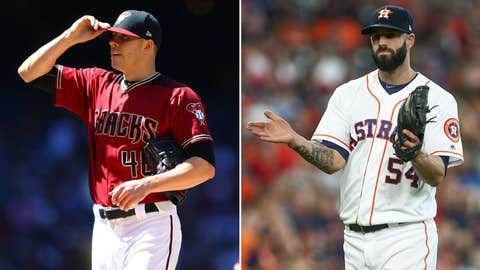 Today's starting pitchers: LHP Patrick Corbin vs. RHP Mike Fiers