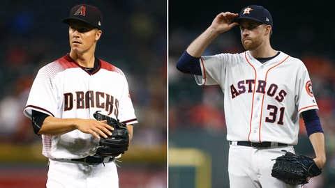 Today's starting pitchers: RHP Zack Greinke vs. RHP Collin McHugh
