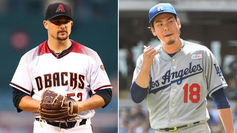 Today's starting pitchers: RHP Zack Godley vs. RHP Kenta Maeda