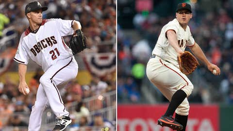 Today's starting pitchers: RHP Zack Greinke vs. LHP Ty Blach