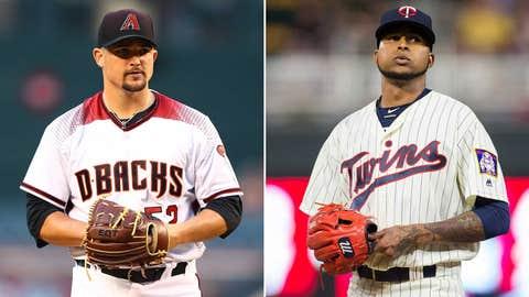 Today's starting pitchers: RHP Zack Godley vs. RHP Ervin Santana