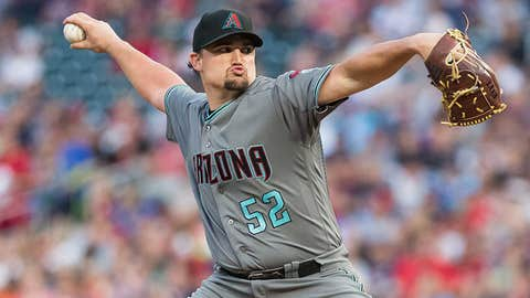 D-backs starting pitcher Zack Godley (5-6, 3.13 ERA)