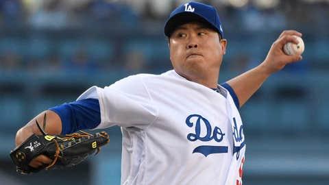 Dodgers starting pitcher Hyun-Jin Ryu (5-6, 3.34 ERA)