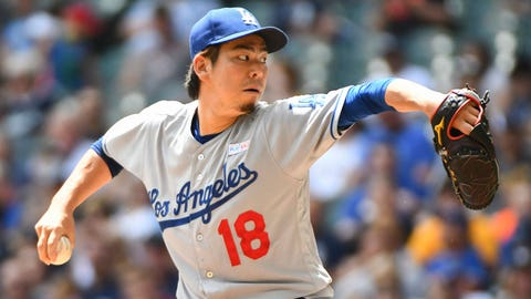 Dodgers starting pitcher Kenta Maeda (10-4, 3.79 ERA)