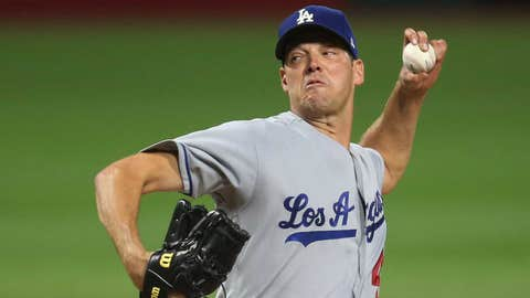 Dodgers starting pitcher Rich Hill (9-5, 3.32 ERA)