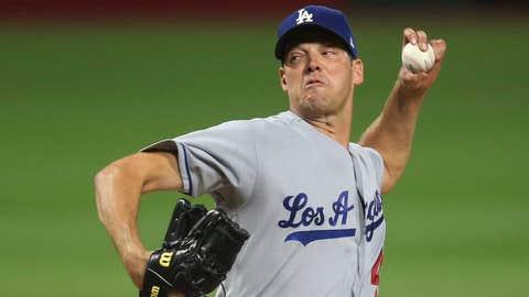 Dodgers starting pitcher Rich Hill (9-5, 3.32 ERA)