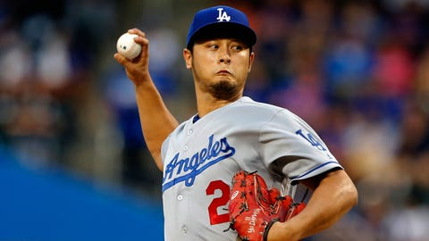 Dodgers starting pitcher Yu Darvish (7-9, 3.81 ERA)