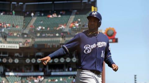 Domingo Santana, Brewers outfielder (↑ UP)
