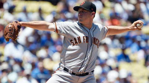Giants starting pitcher Ty Blach (8-9, 4.59 ERA)