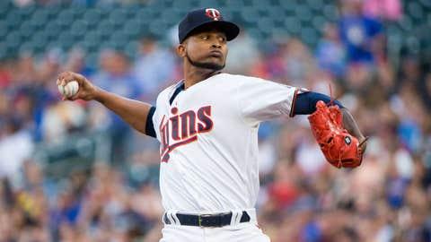 Twins starting pitcher Ervin Santana (12-7, 3.28 ERA)