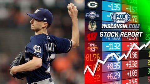 Zach Davies, Brewers pitcher (↑ UP)