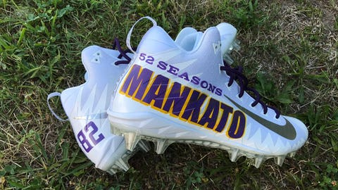 Mache Custom Kicks (via Kyle Rudolph, Vikings tight end)