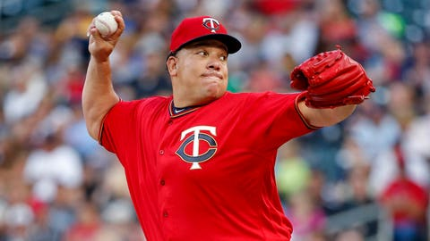 Bartolo Colon, Twins pitcher (↓ DOWN)