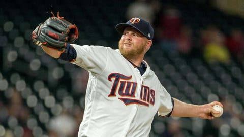Buddy Boshers, Twins reliever (↓ DOWN)