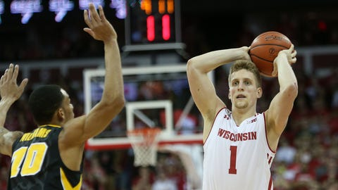 Brevin Pritzl, Badgers guard (↑ UP)