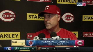 Bryan Price on Bailey's injury, Reds' roller-coaster bullpen