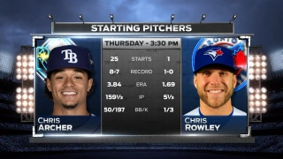 Chris Archer tries to help Rays earn series split vs. Blue Jays