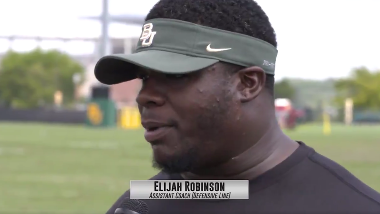 Baylor Camp Update: DL Coach Elijah Robinson: 'They are buying into the brand'