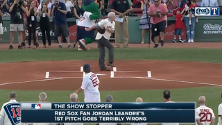 WATCH: This first pitch in Boston missed BADLY   Show Stopper   Rangers Live
