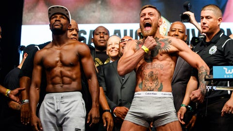 Boxing: Mayweather vs McGregor-Weigh Ins