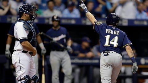 Hernan Perez, Brewers utility player (↓ DOWN)