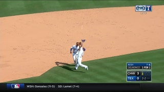 WATCH: Joey Gallo, Matt Bush collide on infield fly