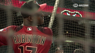 Top D-backs prospects take batting practice at Chase