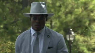 Cam Newton was in high style on the way to Sunday's game against the Saints