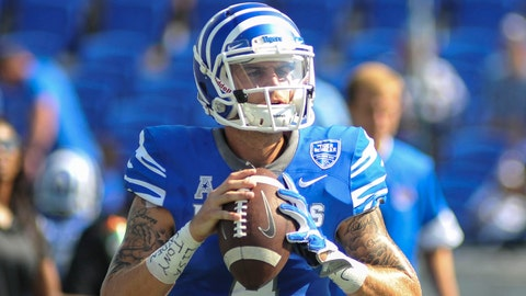 Sep 16, 2017; Memphis, TN, USA; Memphis Tigers quarterback Riley Ferguson (4) before the game against the UCLA Bruins at Liberty Bowl Memorial Stadium. Mandatory Credit: Justin Ford-USA TODAY Sports