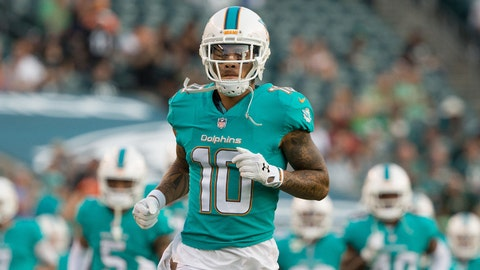 Aug 24, 2017; Philadelphia, PA, USA; Miami Dolphins wide receiver Kenny Stills (10) before a game against the Philadelphia Eagles at Lincoln Financial Field. Mandatory Credit: Bill Streicher-USA TODAY Sports