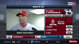 Mike Matheny after Cardinals' loss to Cubs: 'We've gotta play a little bit better'