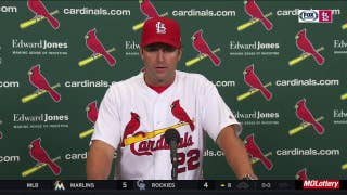 Matheny, a former catcher, on watching Yadi get hurt: 'I hate it'