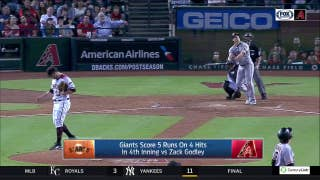 HIGHLIGHTS: Giants capitalize on Godley's mistakes