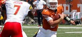 Texas QB Buechele has bruised throwing shoulder