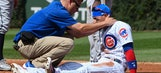 Cubs' Baez exits against Braves after getting hurt on dive