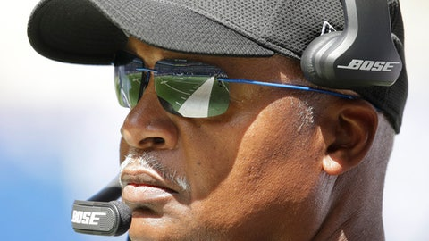 FILE - In this Aug. 13, 2017, file photo, Detroit Lions head coach Jim Caldwell watches from the sideline during the first half of an NFL preseason football game against the Indianapolis Colts, in Indianapolis. The Lions open their season on Sept. 10 against the Arizona Cardinals. (AP Photo/AJ Mast, File)