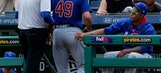 Cubs ace Arrieta exits with apparent injury to right leg