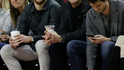 HOUSTON, TX - DECEMBER 10:  Houston businessman Tilman Fertitta watches courtside at Toyota Center on December 10, 2016 in Houston, Texas. NOTE TO USER: User expressly acknowledges and agrees that, by downloading and/or using this photograph, user is consenting to the terms and conditions of the Getty Images License Agreement.  (Photo by Bob Levey/Getty Images)