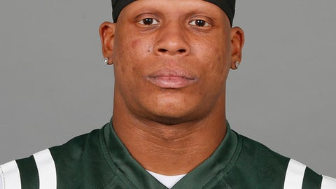 This is a 2017 photo of Rontez Miles of the New York Jets NFL football team.  Miles will be out against the Buffalo Bills on Sunday while continuing to recover from a serious eye injury. Coach Todd Bowles announced Wednesday, Sept. 6, 2017, that Miles broke the orbital bone in two places around his right eye in the Jets' second preseason game at Detroit on Aug. 19.   (AP Photo)