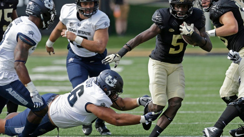 Wolford scores 3 TDs, Wake Forest beats Utah State 46-10