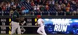 Alfaro, bullpen lead Phillies past Athletics after delay (Sep 16, 2017)