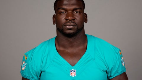 FILE - This is a 2017 file photo of Lawrence Timmons, of the Miami Dolphins NFL football team. Timmons has been suspended indefinitely by the Dolphins after he went AWOL on the eve of the team's season opener.  The Dolphins announced the move in a one-sentence news release Tuesday, Sept. 19, 2017, a day off for the team. Timmons' agent, Drew Rosenhaus, said he had no immediate comment on the decision. (AP Photo/File)