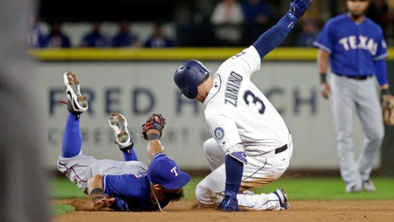 Odor's grand slam sends Rangers past Mariners 8-6