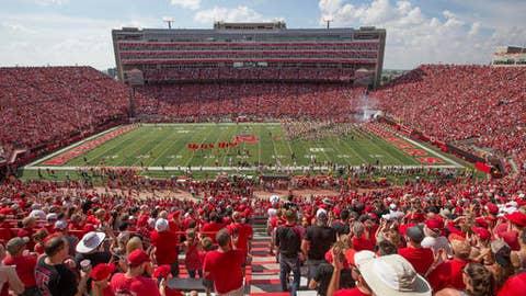 General view of Memorial Stadium in Lincoln, Neb., before an NCAA college football game between Nebraska and Rutgers, Saturday, Sept. 23, 2017. (AP Photo/Nati Harnik)